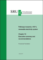 "Cover Pathways towards a 100 % renewable electricity system Chapter 10: (refer to: ""Pathways towards a 100 % renewable electricity system"" -  Executive summary and recommendations)"